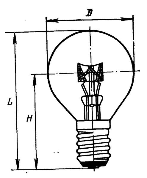 Лампа различного назначения  РН 127-10 Е14