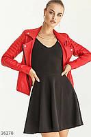 Кожаная куртка-косуха красного цвета S,M,L,XL, фото 1