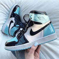 Кроссовки женские N*ke Air Jordan 1 High OG Chill Blue