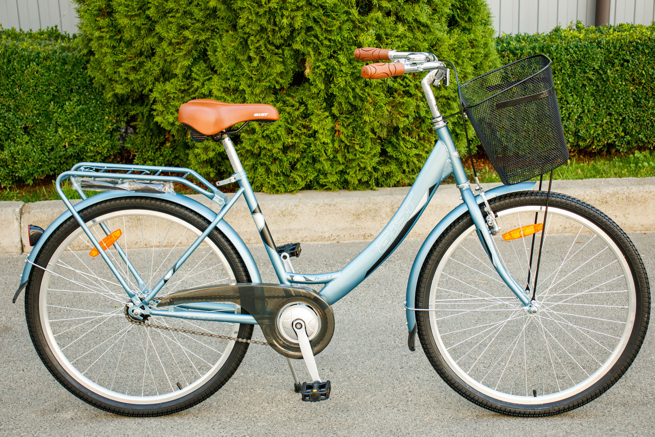 """Велосипед жіночий AIST JAZZ 1.0 """"26 CTB з кошиком"""