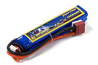 Аккумулятор для страйкбола Giant Power (Dinogy) Li-Pol 7.4V 2S 1300mAh 25C 17х18.5х95мм T-Plug