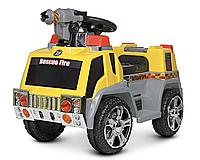 Электромобиль детский Пожарная машина ZPV119AR-6, со светом и звуком, желтый, пускает мыльные пузыри