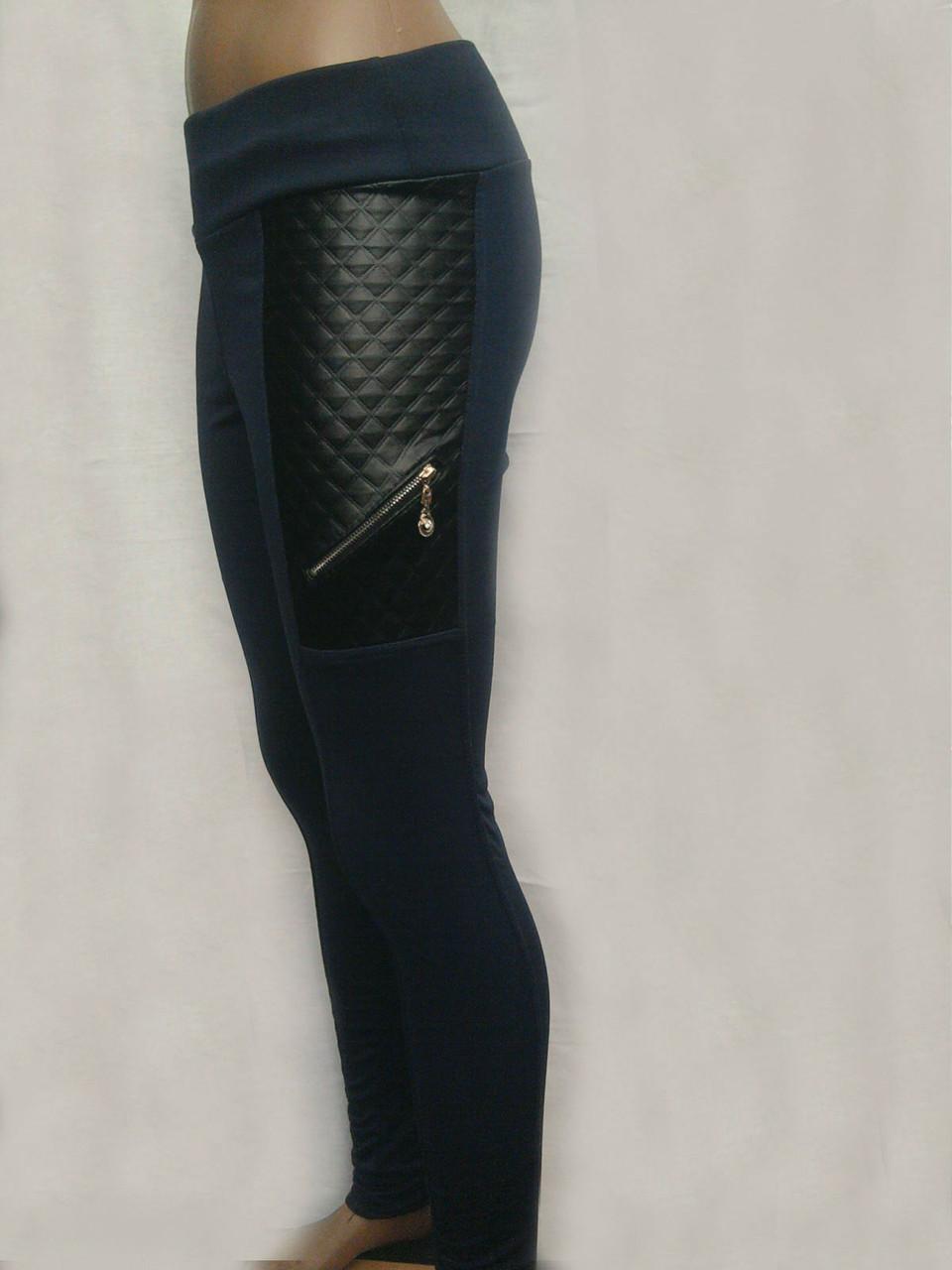 aab00a1fc3115 Стильные женские леггинсы на флисе с кожаными вставками : продажа ...