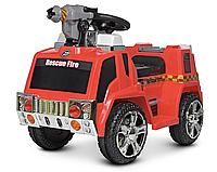 Электромобиль детский Пожарная машина ZPV119AR-3, со светом и звуком, красный, пускает мыльные пузыри
