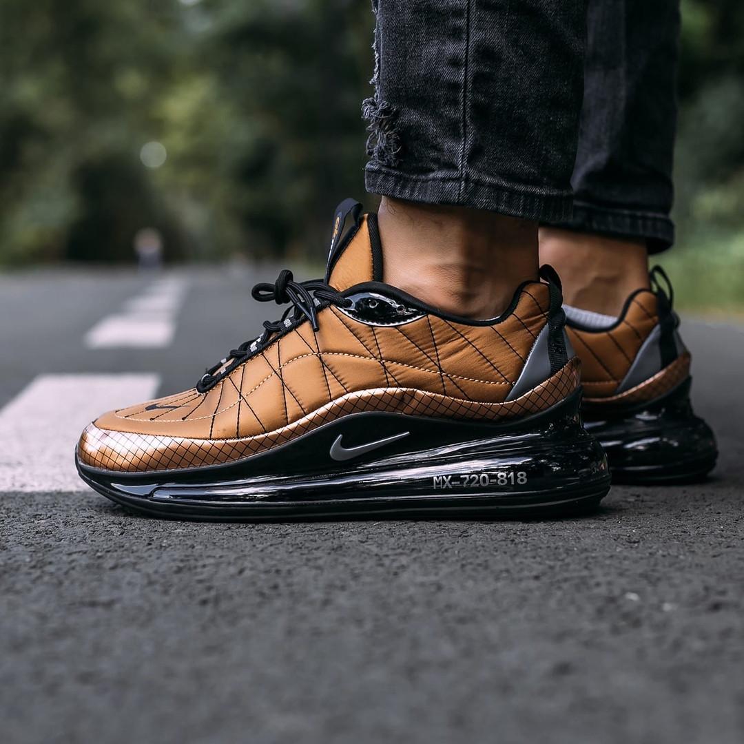 Кроссовки мужские в стиле Nike Air Max 720 termo bronze, кроссовки Найк Аир Макс 720 термо (Реплика ААА)