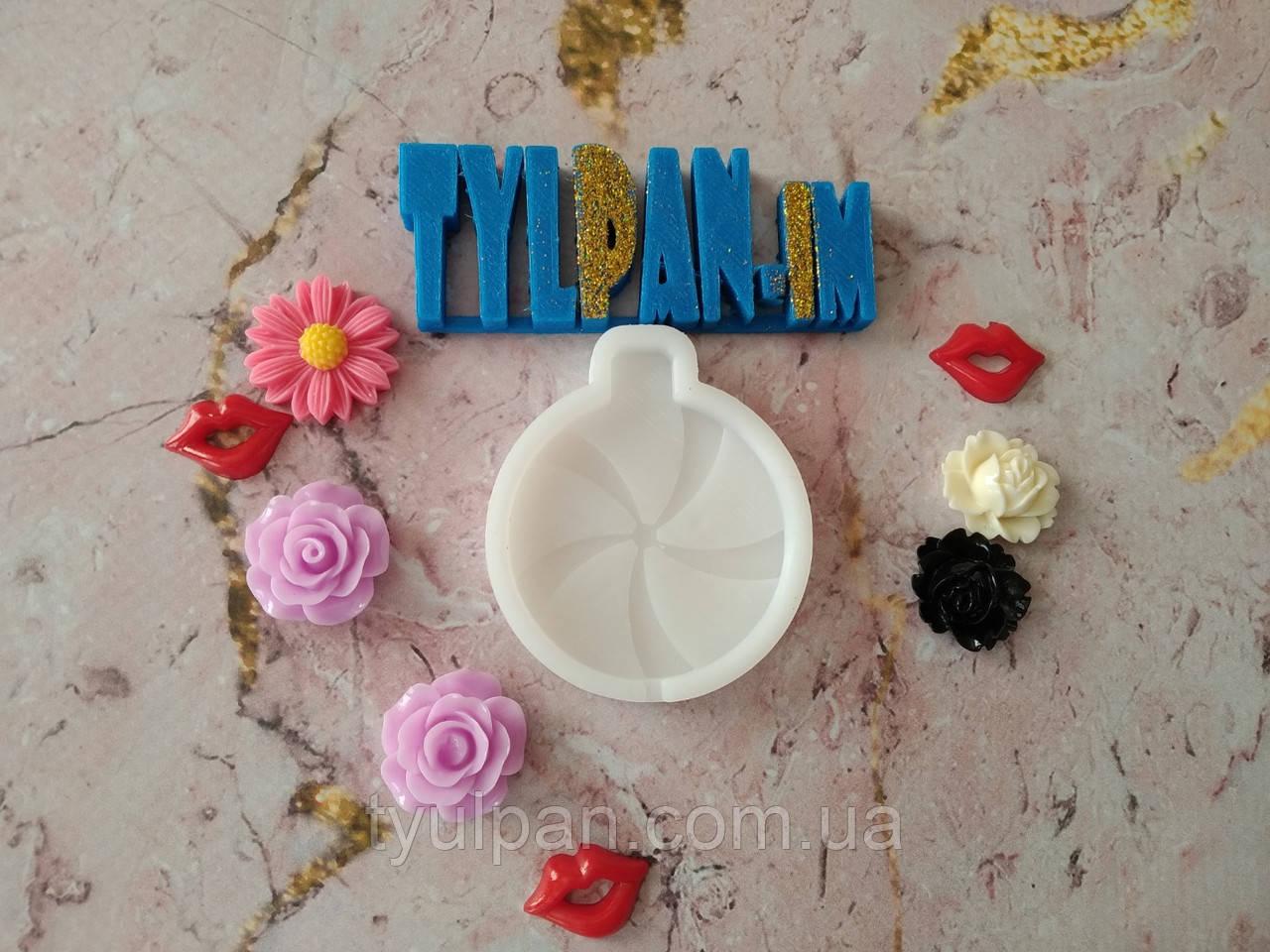 Молд силиконовый кондитерский для шоколада леденцов  игрушки новогодние елочные 1 шт