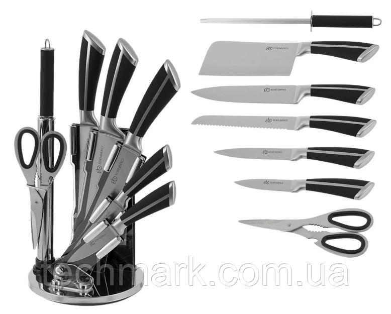 Набор кухонных ножей 9 предметов на крутящейся подставке Edenberg EB-3611