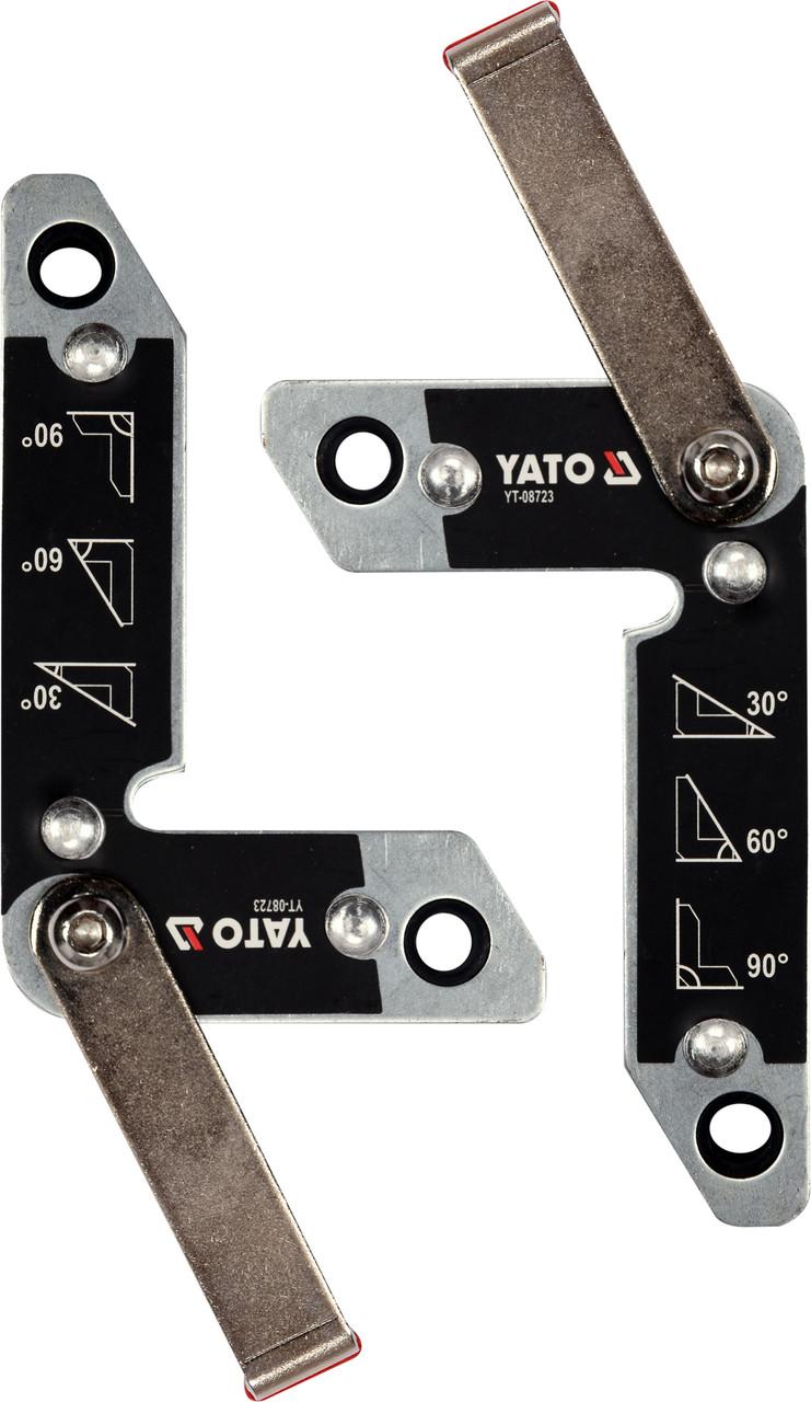 Магнитные держатели для сварки 2 шт. 32 кг YATO YT-08723