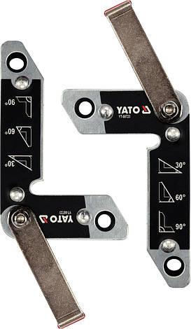 Магнитные держатели для сварки 2 шт. 32 кг YATO YT-08723, фото 2
