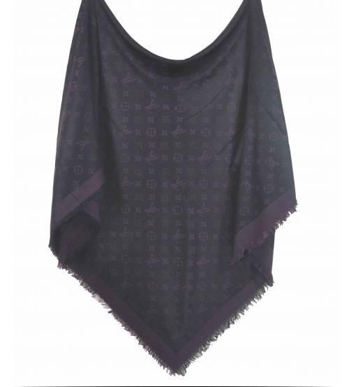Шаль Denim Shawl фиолетовая с черным (реплика)