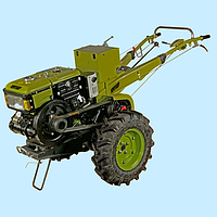 Мотоблок дизельный КЕНТАВР МБ 1012Е-3 с почвофрезой и плугом (12 л.с.)