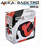 Подовжувач електричний на автоматичному барабані 10 м 3х1,5 мм2 YATO YT-81220, фото 2