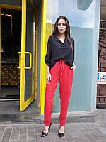 Женская свободная блуза из софта с V-вырезом 45mru389, фото 1