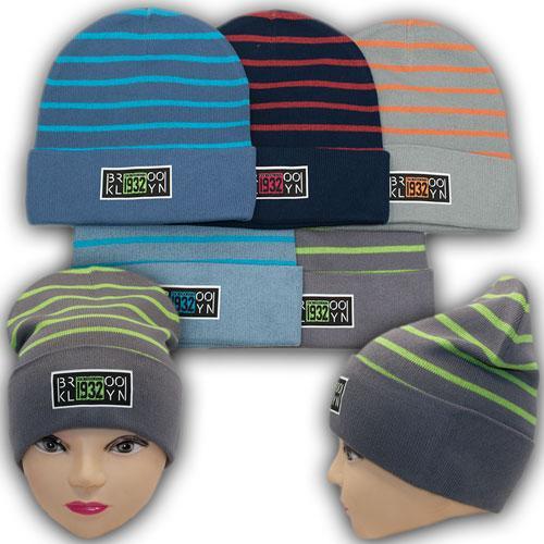 ОПТ Детские вязаные шапки для мальчика р. 50-52 (5шт/упаковка)