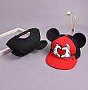 Детская кепка снепбек  с ушками Микки Маус с прямым козырьком Красная 1, Унисекс, фото 6