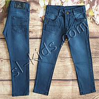 Джинсы для мальчика 5-10 лет (104-134 см) (синие) розн пр.Турция