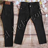 Джинсы для мальчика 5-10 лет (104-134 см) (черные) розн пр.Турция