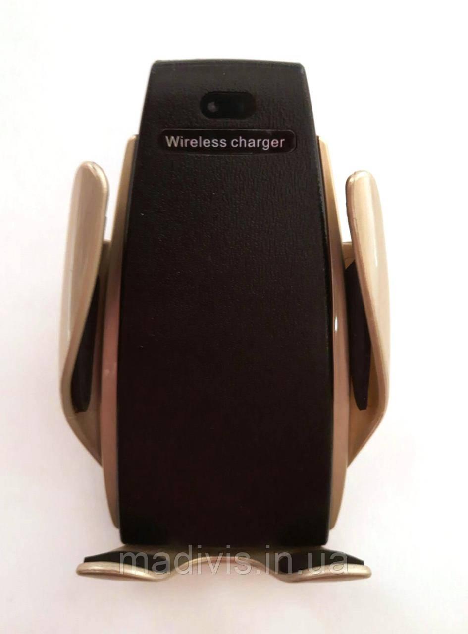 Универсальный автомобильный сенсорный держатель для телефона с беспроводной зарядкой Smart Sensor S5 ЗОЛОТОЙ