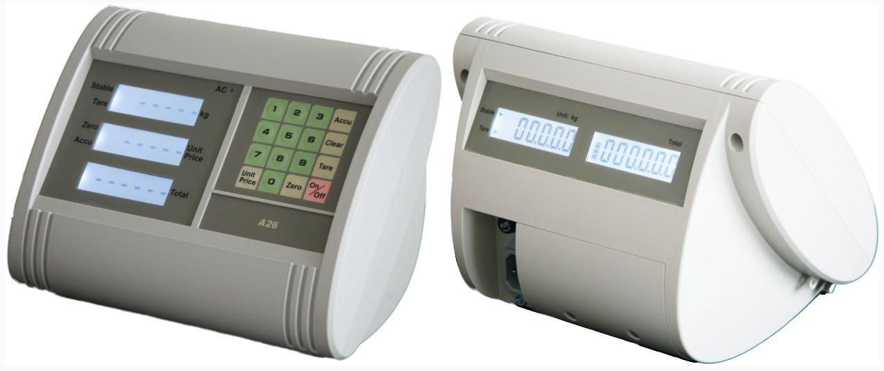 Весовой индикатор А26 с функцией расчета цены и двусторонним дисплеем