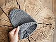 """В'язана шапочка """"Alen"""", сіра, фото 5"""