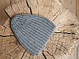 """В'язана шапочка """"Alen"""", сіра, фото 6"""