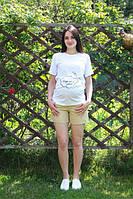 Шорты котоновые для беременных 3030 хаки
