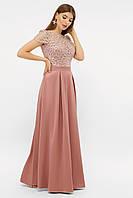 GLEM длинное женское платье Лорена лилового цвета к/р, фото 1