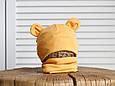 """Набор шапка с манишкой """"Bruin"""", горчичная, фото 2"""