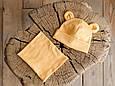 """Набор шапка с манишкой """"Bruin"""", горчичная, фото 3"""