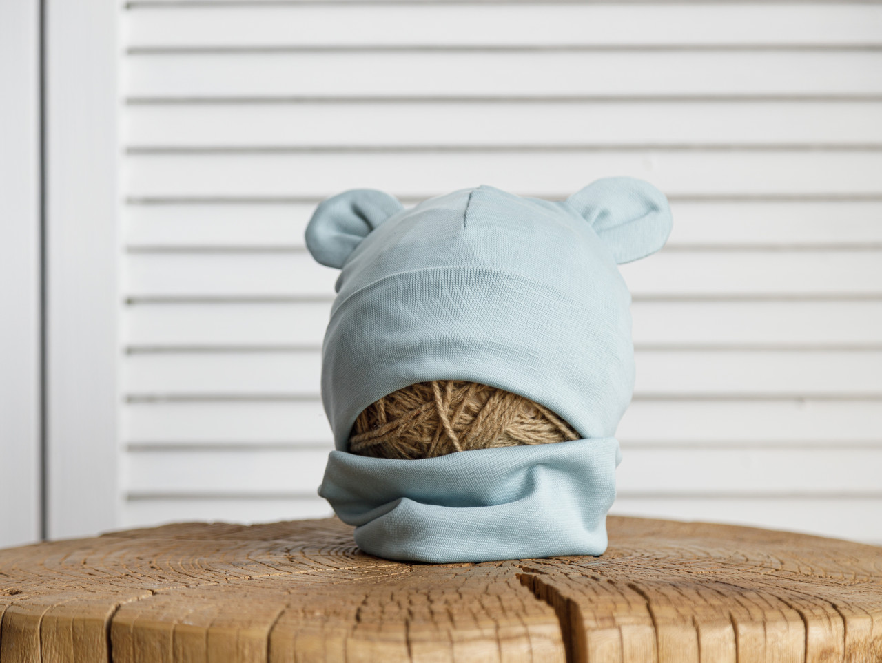 "Набір шапка з манишкою ""Bruin"", сизий"