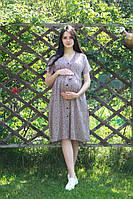Платье штапель принт для беременных 6135-3