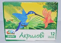 Краски акриловые Гамма 322072 12 цветов по 20мл