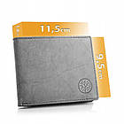 Чоловічий гаманець BETLEWSKI з RFID 9.5 х 11.5 х 1.8 (BPM-GTN-66) - сірий, фото 2