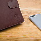 Шкіряний чоловічий гаманець BETLEWSKI з RFID 12,9 х 10 х 2,5 (BPM-GTAN-993) - коричневий, фото 5