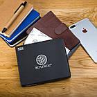 Шкіряний чоловічий гаманець BETLEWSKI з RFID 12,9 х 10 х 2,5 (BPM-GTAN-993) - коричневий, фото 6