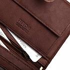 Шкіряний чоловічий гаманець BETLEWSKI з RFID 12,9 х 10 х 2,5 (BPM-GTAN-993) - коричневий, фото 8