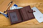 Шкіряний чоловічий гаманець BETLEWSKI з RFID 12,9 х 10 х 2,5 (BPM-GTAN-993) - коричневий, фото 9