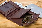 Шкіряний чоловічий гаманець BETLEWSKI з RFID 12,9 х 10 х 2,5 (BPM-GTAN-993) - коричневий, фото 10