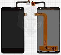 Дисплей + touchscreen (сенсор) для Fly IQ4514 Quad EVO Tech 4, оригинал, черный