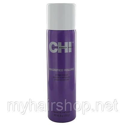 Пенка-спрей для придания объёма и стойкой укладки CHI Magnified Volume Spray Foam 200 мл