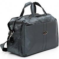 Дорожная сумка серая Wallaby 45x30x20 (дорожные сумки, сумки в дорогу)