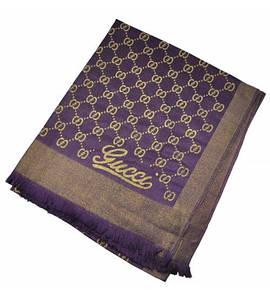 Шарф Shine фиолетовый с золотым (реплика)
