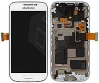 Дисплейный модуль (+ сенсор) для Samsung Galaxy S4 mini i9190, i9192,i9195 с рамкой, белый, оригинал