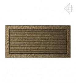 Вентиляционная решетка для камина KRATKI 22х45 см черно-золотая с жалюзи