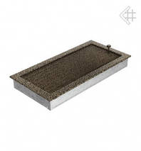 Вентиляционная решетка для камина KRATKI 22х45 см черно-золотая с жалюзи, фото 2
