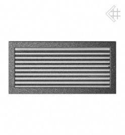 Вентиляционная решетка для камина KRATKI 22х45 см черно-серебряная с жалюзи, фото 2