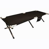 Кровать кемпинговая Highlander Aluminium Camp Bed w/pocket Black