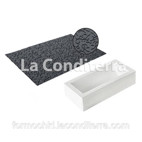Набор коврик и форма для десертов SILIKOMART TEX05 SET BUCHE (250x90 мм, объем=1300 мл)