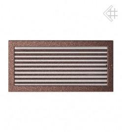 Вентиляционная решетка для камина KRATKI 22х45 см медная с жалюзи (крашеная)