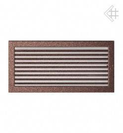Вентиляционная решетка для камина KRATKI 22х45 см медная с жалюзи (крашеная), фото 2